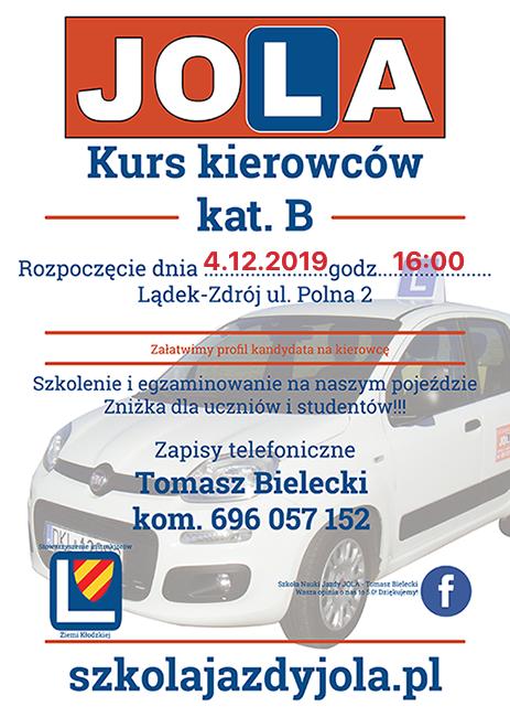Prawo jazdy na Mikołajki – 4 grudnia 2019 startuje nowy kurs