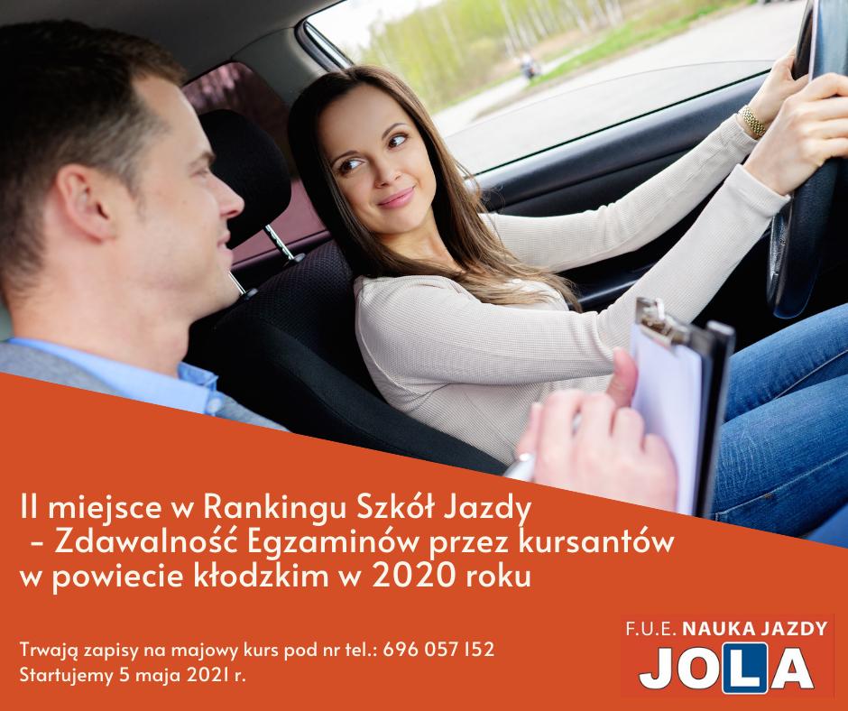 2. miejsce w rankingu szkół jazdy powiatu kłodzkiego